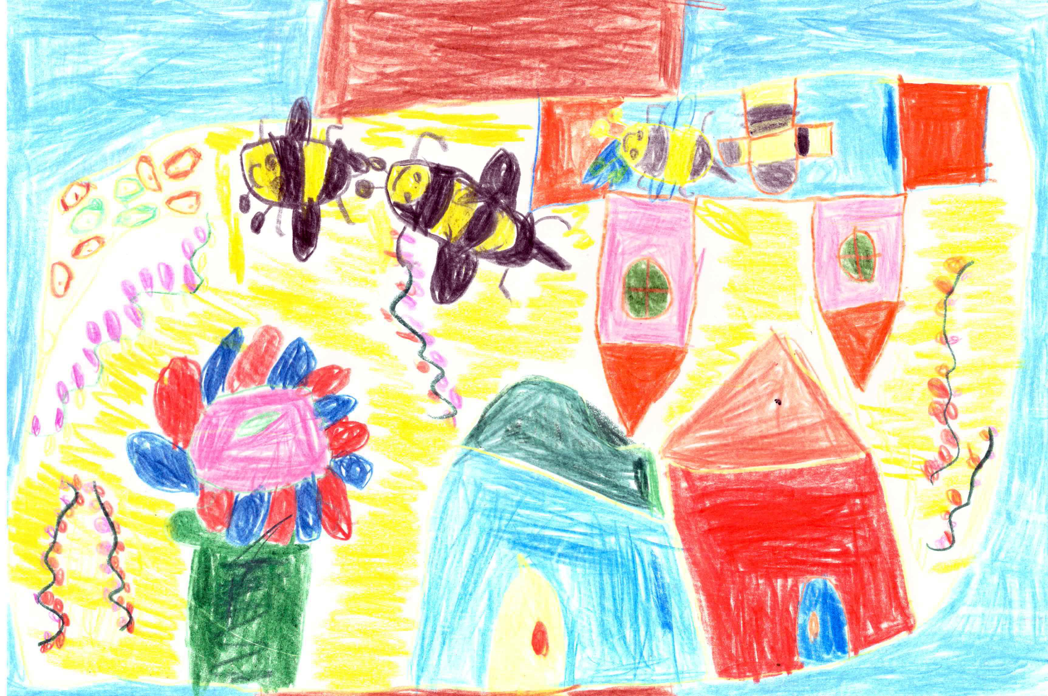 dessins d 39 enfants sur les abeilles octobre 2017 tigoo miel. Black Bedroom Furniture Sets. Home Design Ideas