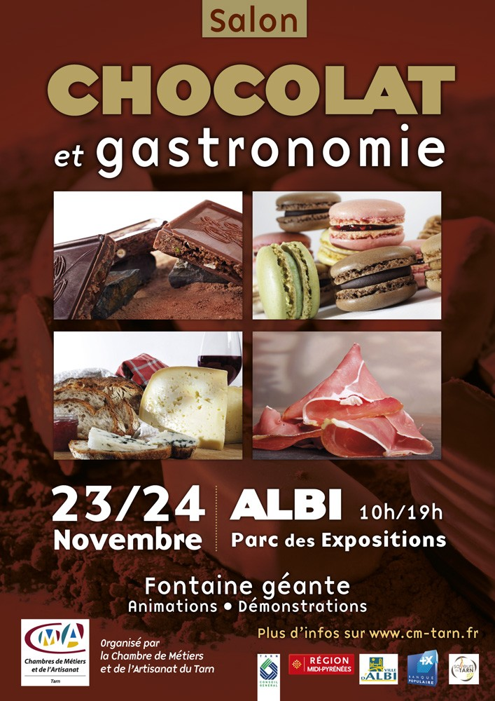 Vente de miels et gel e royale au salon du chocolat albi for Salon de the albi
