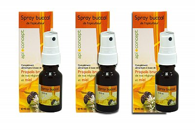 Lot de 3 sprays à la propolis